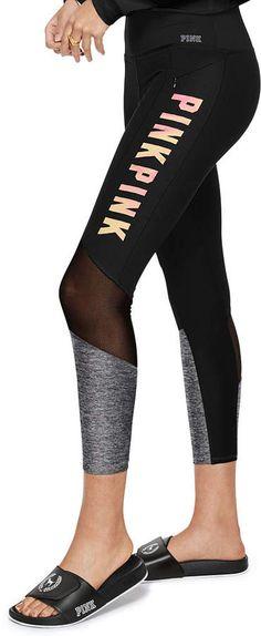 70f7e6c9087f4a PINK Ultimate High Waist Mesh Pocket Legging #pink, #leggings, #womens,  #promotion
