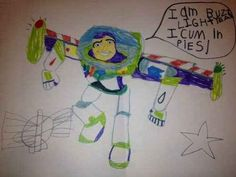 Hmm, I don't remember this happening during Toy Story. | 18 Children's Notes Made Hilariously Inappropriate By Spelling Errors