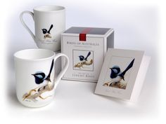 Australian Birds Fine Bone China Mug - White Apple Gifts E Bird, Apple Gifts, Australian Gifts, China Mugs, Bone China, Gifts For Him, How To Memorize Things, Tableware, Art
