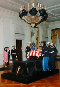 1963-11-23: JFK's body is brought home to the White House.