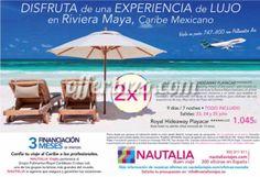 ¡2×1 de Vacaciones en Riviera Maya! Disfruta de 9 días en un Hotel 5 Estrellas con Todo Incluido. Entra aquí para informarte: http://viajes-vacaciones.offertazo.com/2x1-riviera-maya-vacaciones-oferta/
