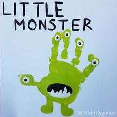 Monster handprint art                                                                                                                                                                                 More