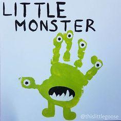 Monster handprint art