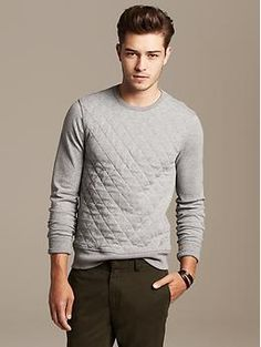 Quilted Crew   Banana Republic