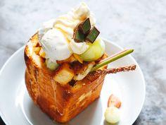 Japanese Shibuya honey toast #dessert