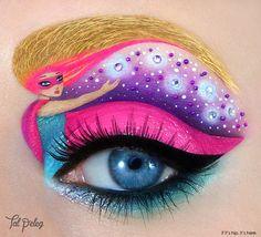 Barbie eye makeup