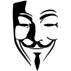 V For Vendetta Anonymous Mask Guy Guido Fawkes Decal Sticker Vinyl Wall Art Masque Anonymous, Anonymous Maske, Pencil Art Drawings, Art Sketches, Vinyl Wall Art, Vinyl Decals, Stencil Art, Stencils, Vendetta Mask