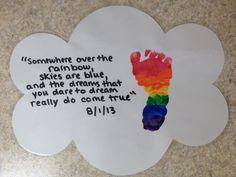 Rainbow party art - party souvenir