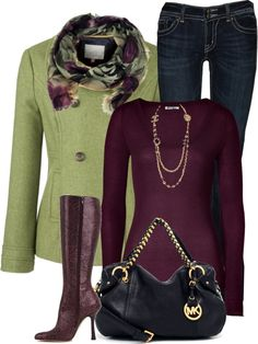 I like the green with the magenta...tho I don't know if I would invest in magenta boots
