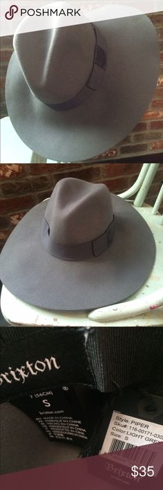 cf1296c49cab9 Brixton piper hat in light grey Brixton piper hat