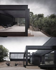 """340 Likes, 3 Comments - architecture.com (@architecturedotcom) on Instagram: """"Minimalist Black House by StudioFour  Photography by Shannon McGrath ______________________________…"""""""