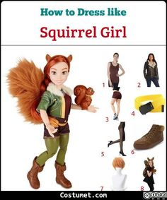 Squirrel Costume, Squirrel Tail, Girl Costumes, Costumes For Women, Costume Ideas, Brown Shorts, Shorts With Tights, Fall Halloween, Halloween Ideas