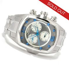 Invicta Mens Lupah Revolution Swiss Chronograph Stainless Steel Bracelet Watch