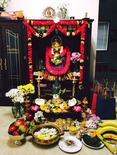 My first varalakshmi vratham decoration at home.. :)