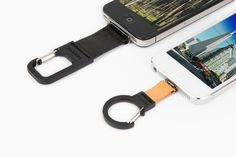 iPhone Carabiner Clip - Never miss an iPhone pic with this sturdy clip that keeps your phone safe and at the ready. ($30.00, http://photojojo.com/store)
