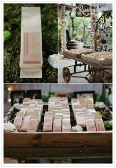Coffee + tea wedding favors with custom label