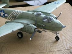 014 62cm B-25 Mitchell aircraft paper model PDF File