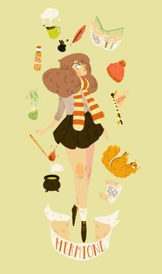 Hermione Granger from the harry potter series was always one of my favorite characters