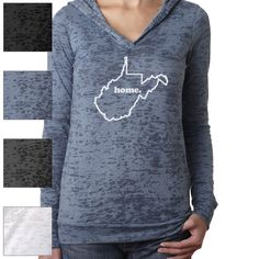 New womens ladies Soft long sleeve burnout THIN by FrostyTees