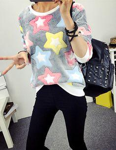 Cute fun star print spring sweatshirt for casual wear. Like it? Only €9.79