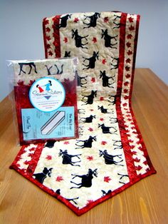 Sew Sisters Online Store featuring quilt fabric, Block-of-the-Month programs, Quilt Kits, Patterns, Books and Notions. Table Runner And Placemats, Quilted Table Runners, Quilting Projects, Sewing Projects, Canadian Quilts, Quilts Canada, Flag Quilt, Christmas Runner, Sewing To Sell
