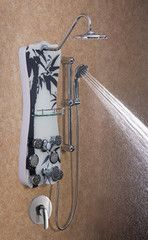 Jet-Pro Shower Spa Colonial in Black Bamboo Black Bamboo, Shower Panels, Rain Shower, Bathroom Fixtures, Clothes Hanger, Colonial, Jet, Contours, Bathroom Accesories
