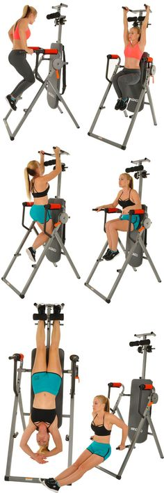 Inversion Table Power Tower - versatile and lo-cost piece of home exercises equipment. Strengthen upper and lower body as well as strengthen and stretch out your back. Cheap Exercise Equipment, Best Home Workout Equipment, Fitness Equipment, Power Tower, Desk Workout, Workout Rooms, Speed Workout, Inversion Table, Fitness Gear