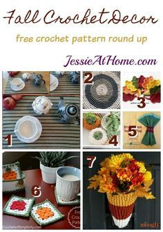 Fall Crochet Decor f