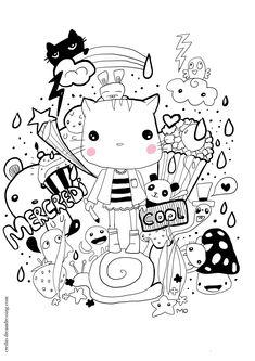 Dessin De Noel Kawaii A Imprimer