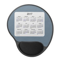 2017 Slate Gray Holiday Calendar by Janz Gel Mouse Pad