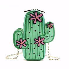 Kawaii Cactus Sling Purse
