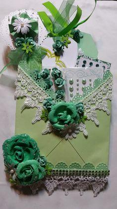 Green loaded envelope by Monique Fox - Scrapbook.com