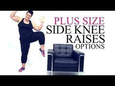 Plus size side knee raises modification from Coach Tulin YouTube