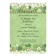 St. Patrick's Day Bridal Shower Invitation lowest price for you. In addition you can compare price with another store and read helpful reviews. BuyReview          St. Patrick's Day Bridal Shower Invitation Review from Associated Store with this Deal...