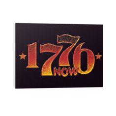 1776 Is Now 2016 Trump Revolution Horizontal Canvas