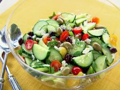 Trisha Yearwood's Minty Greek Salad from FoodNetwork.com (This is my favorite salad! I make it without the mint though.)