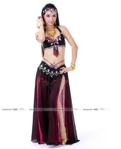 4c36534d7 2017 High quality S/M/L cheap belly dance costumes set for women belly  dancing clothes bra belt on sale