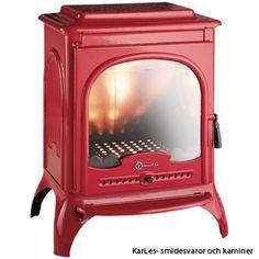 Invicta Seville Log Burner Wood Stove Enamel Finish Red Ivory Fire for sale Wood Burning Fireplace Inserts, Wood Burning Fires, Insert Stove, Solid Fuel Stove, Cast Iron Stove, Freestanding Fireplace, Into The Woods, Stove Fireplace, Log Burner