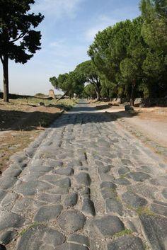 via Appia Antica, Roman Architecture, Ancient Architecture, Ancient Rome, Ancient History, Roman Empire Map, Roads And Streets, Rome Antique, Roman Roads, Empire Romain