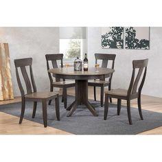 Iconic Furniture Deco 5 Piece Dining Set Finish: Grey Stone/ Black Stone