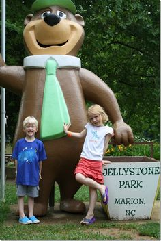 Jellystone Park Campground in Marion, NC - sounds pretty cheap and awesome