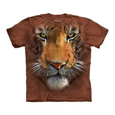 Tiger Face T-Shirt Adult now featured on Fab.