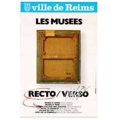DUCROCQ. Reims. Les Musées. Recto Verso. Offset Offset, Galleries, Auction, Posters, Poster, Billboard
