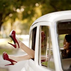 Great way to highlight gorgeous wedding shoes!