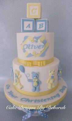 Teddy Bear and Blocks Cake