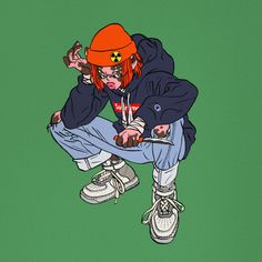 orange boy on Behance