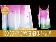 DIY Dip-Dyed Watermelon T-Shirt - HGTV Handmade - YouTube