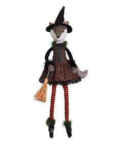 Another great find on #zulily! Halloween Lady Fox Witch Shelf Sitter Figurine #zulilyfinds