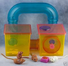 Vintage Littlest Pet Shop Cozy Home Pets: Jogging Gerbils Gerbitrail Kenner 1992 think this one was one of my favorite sets: along with the persian, the pinto horse, and the husky with the magnetic bone.