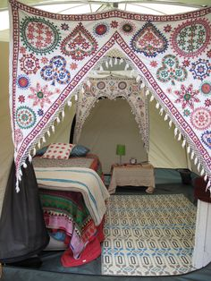 Loving the hangings. (Tent at Deb's glampground in Truro, Cape Cod - comment from Nomad Cambridge)